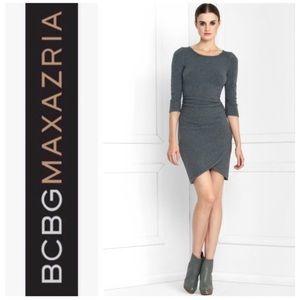 BCBGMaxAzria Ruched Sweater Dress